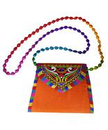 Zonnie Jaya Indian Embroidered Small Purse Orange - $20.28