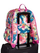 Vera Bradley Quilted Signature Cotton Iconic Campus Backpack, Superbloom image 4