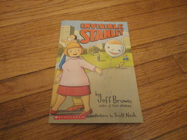 BOOK Jeff Brown 'Invisible Stanley' PB Scholastic Scott Nash Flat Stanley  - $1.99