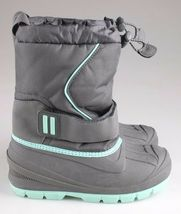 Cat & Jack Boys Kids Youth Gray Cordie Thermolite Insulation Winter Boots image 3