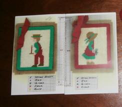 2 Needlepoint Canvas with Yarn Farmer & Wife - $5.94