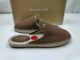 MICHAEL KORS SUEDE HASTINGS ESPADRILLES SLIDE Flats Shoes Sz 6 RETAIL $110 - $54.45