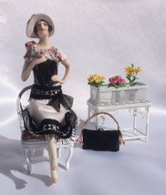 Porcelain Half Doll with Legs, Flapper Mini Doll Accessories Antique Min... - $388.03
