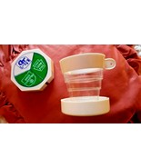 VTG 1960s 3-POINT (NJ, OHIO & PA) TURNPIKE PLASTIC COLLAPSIBLE TRAVEL CUP W/LID  - $10.00