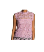 Nanette Lepore Women's Top Size S Sugar Plum Spring Fling Sleeveless Lace - $49.49