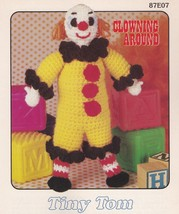 Tiny Tom, Annie's Attic Clowning Around Crochet Pattern Leaflet 87E07 - $4.95