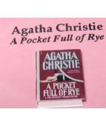 DOLLHOUSE Book Agatha Christie: Pocket Full of Rye Jacqueline's B6050C M... - $2.61