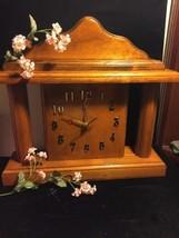 Vtg Hand Made Solid Wood Clock - $59.39