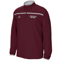 NWT New Mississippi State Bulldogs adidas Quarter Zip Sideline Small L/S Jacket - $49.45