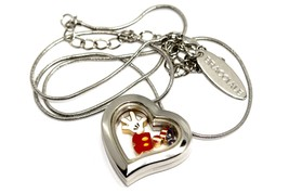 Bracciale Disney Heart Locket American Mickey Silver Necklace Floating Charms - $24.74