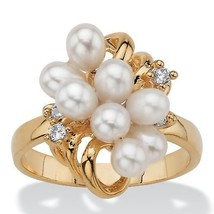 Cultured Freshwater Pearl Cocktail Ring 14k Gold-Plated - $15.95
