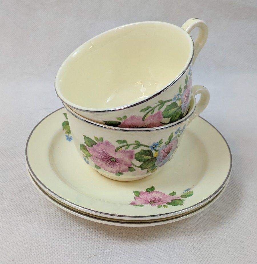 Superior Hall Quality Dinnerware Pink \u0026 Blue Flowers Cup \u0026 Saucer 2 Sets & Superior Hall Quality Dinnerware Pink \u0026 Blue and similar items