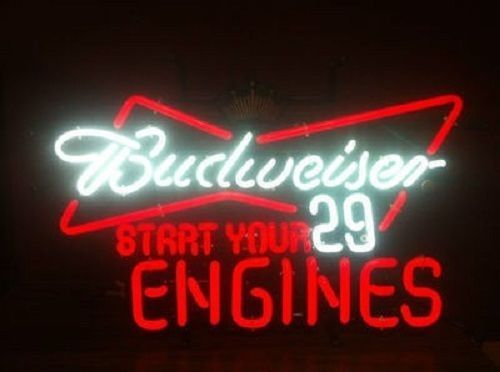 "New Budweiser Start Your Engine Nascar #29 Neon Sign 24""x20"" Ship From USA"