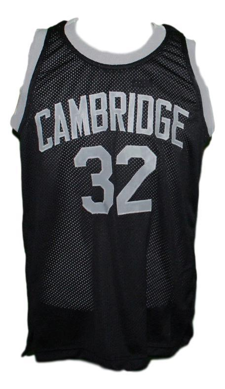 Patrick Ewing Cambridge High School Basketball Jersey New Sewn Black Any Size