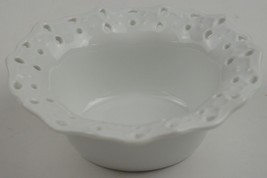 "Mikasa China White Ruffled Bowl Ruffles Collection 5.5"" W Home Decor Lace Edge - $19.99"