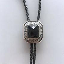 Original Antique Silver Plated Vintage Black Agate Octagon Stone Celtic ... - $14.55