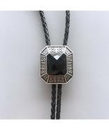 Original Antique Silver Plated Vintage Black Agate Octagon Stone Celtic ... - $13.10
