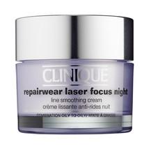 Clinique Repairwear Laser Focus Night Line Smoothing Cream Combo Oily 1.7oz Nib - $51.98