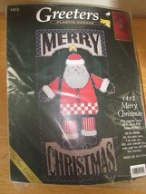 SugarPlum Express Christmas Greeters Santa Claus Stitchery Kit Plastic C... - $21.95