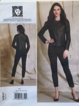 VOGUE V1517 ANNE KLEIN COLLARLESS FITTED JACKET PULL-ON PANTS PATTERN SI... - $14.00