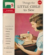Things for Little Girls to Sew 1961 Singer Sewing Library Vintage Sewing... - $11.87