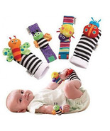 Blige SMTF Cute Animal Soft Baby Socks Toys Wrist Rattles and Foot Finde... - $13.99