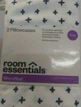 Room Essentials Microfiber Pillowcase Set Wrinkle Resistant Size King New image 2