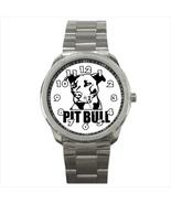 Watch pitbull pit bull dog fan trainer whisperer male wristwatch stainle... - $21.00