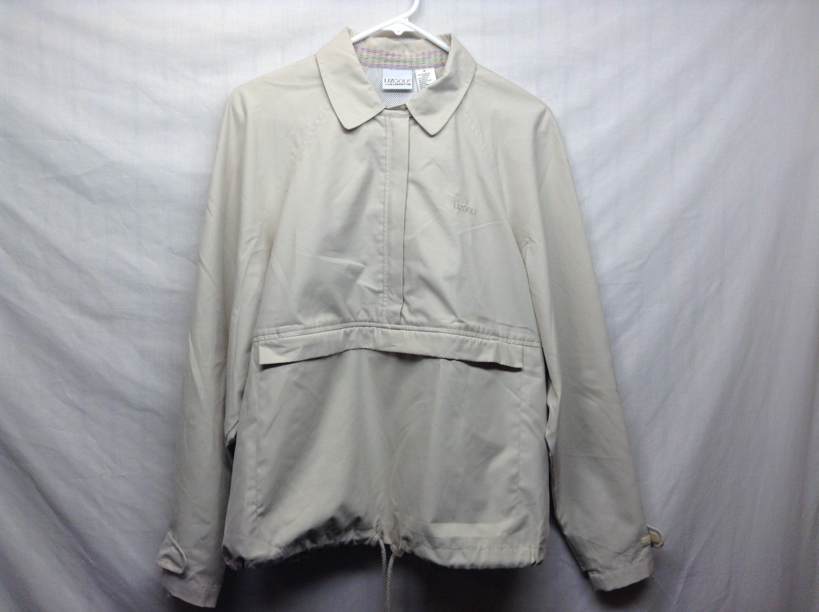 Ladies Ivory Colored Golf Rain Jacket by Liz Claiborne Sz M