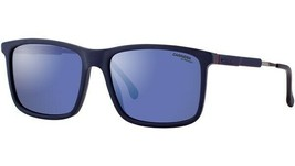 Carrera Men Rectangle Sunglasses CA 8029/S PJP Blue/Blue Mirror Adjustab... - $64.30