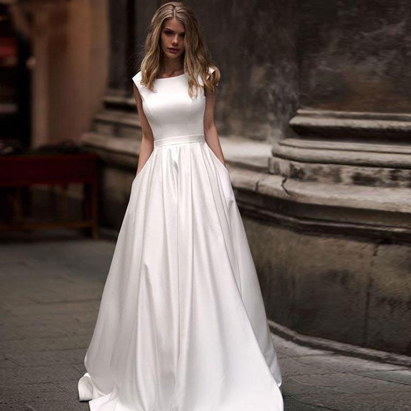 Ple wedding dresses 2020 scoop neck vestido de noiva bridal d89fa38d 9c50 451b b1f1 8325e1694650