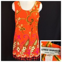 Alfred Shaheen Flower Power Summer Sun Dress Poly Pop Aloha M  - $54.45