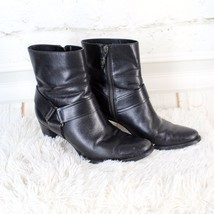"""Cole Haan Nike Air Black Leather Strappy 2.5"""" High Heel Booties Women's ... - $45.80"""