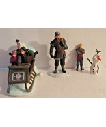 Disney Frozen Wind-Up Toy Sleigh Exclusive W/Sound Anna Kristoff Olaf Fi... - $20.43