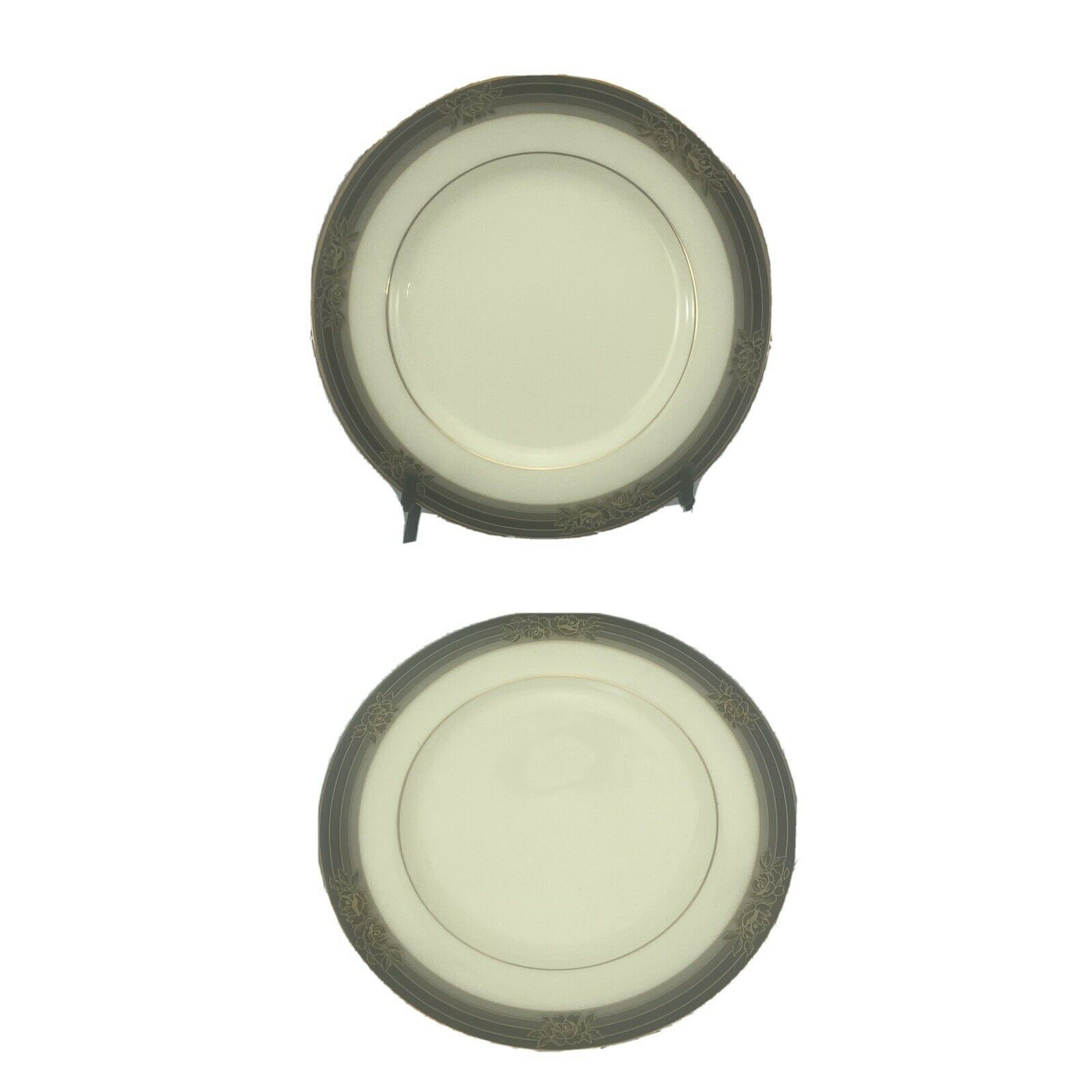 "SET 2 NORITAKE SPELL BINDER BREAD DESSERT PLATE  BONE CHINA  6 1/2""  #9733 japan - $24.74"