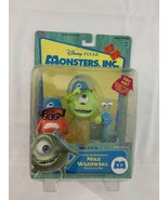 Disney Pixar Monsters Inc. Top Scare Assistants Mike Fungus Ray MINT pac... - $47.49