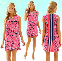 $198 Lilly Pulitzer Iona Bright Navy Flirty Engineered Shift Dress - $157.50