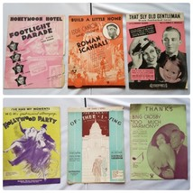 Vintage Sheet Music 1930s Musicals Productions Lot of 6 Songs - $23.43