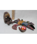 Ty Beanie Babies Stuffed Animal Jolly Walrus 1996 & Claude Crab 1996 - $12.22