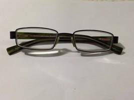 Eye Bobs iBall France Blockhead glasses green bronze metal frame clear l... - $66.33
