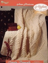 Simply Diamonds Afghan Aran Heirlooms TNS Crochet Pattern/Instructions NEW - $2.67