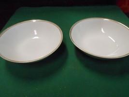 """Great SHEFFIELD Regency Gold Porcelain Fine China 1985 Set of 2 BOWLS ...6.25""""D - $5.95"""