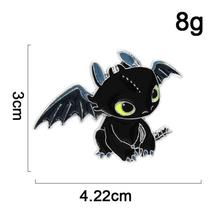 Toothless Dragon Hedgehog Sonic Pin Game Anime Lapel Brooch Cosplay Jewlery - $10.99