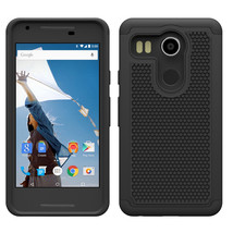 Shock Absorbing Dual Layer Hybrid Protective Armor Case For LG Nexus 5X ... - $4.99