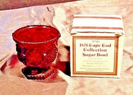 1876 Cape Cod Collection Red Sugar Bowl AA18-1249 VintageSquare AVON image 2