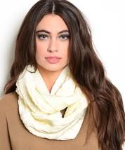 Women's Knit Cowl & Infinity Scarves - Ivory (J0160855) - $9.99