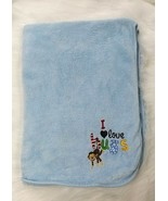 Northpoint Baby I Love Hugs Blanket Monkey Thick Plush Blue Boy Soft B416 - $19.97