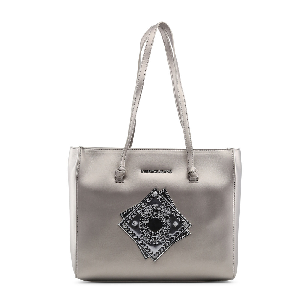 c8aed79589 Versace Jeans Womens Silver Grey Shoulder and 50 similar items. Large 221
