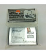 Tandy Radio Shack TRS 80 Cassette Certified Computer Unopened New Old Stock - $20.00