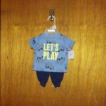 Carter's Child of Mine Blue Let's Play 2 Pc Set - Newborn - $12.99